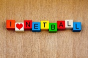 I love netball - sign for sports, with heart symbol
